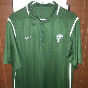 Nike Dri-Fit Tulane Green Wave Polo Shirt Large